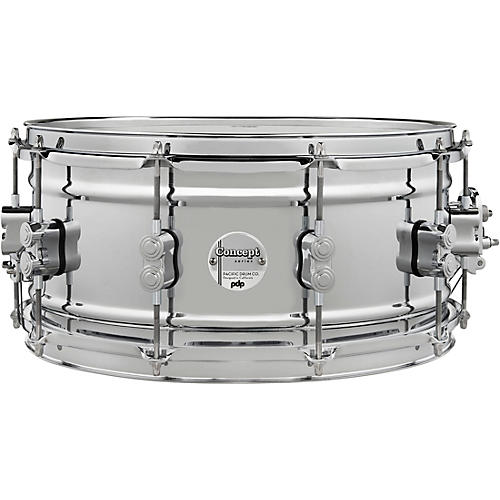 PDP by DW Concept Metal Chrome Over Steel Snare Drum 14 x 6.5 in. Chrome