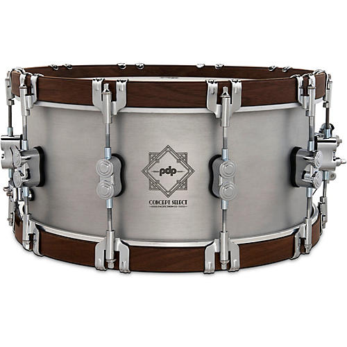 PDP by DW Concept Select Aluminum Snare Drum With Walnut Hoops 14 x 6.5 in. Aluminum