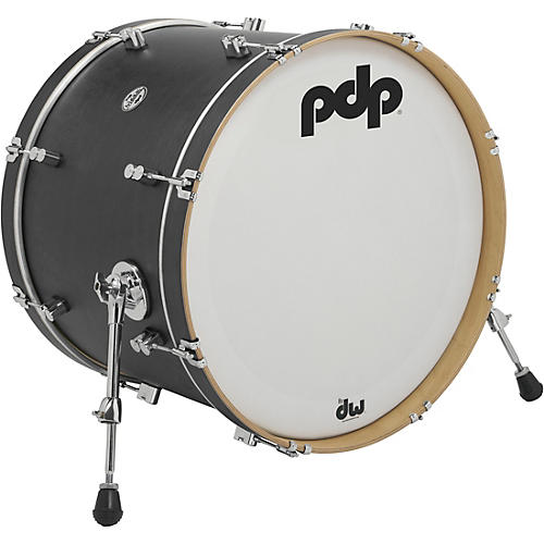 PDP by DW Concept Series Classic Wood Hoop Bass Drum Condition 1 - Mint 22 x 16 in. Ebony Stain
