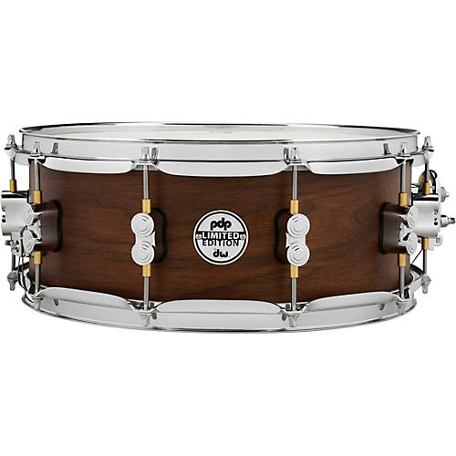 PDP by DW Concept Series Limited Edition 20-Ply Hybrid Walnut Maple Snare Drum 14 x 5.5 in. Satin Walnut