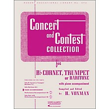 Hal Leonard Concert And Contest Collection - B Flat Cornet Trumpet Or Solo Baritone with Piano Accompaniment