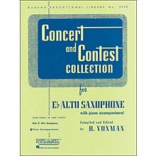 Hal Leonard Concert And Contest Collection E Flat Alto Saxophone Piano Accompaniment