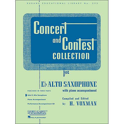 Hal Leonard Concert And Contest Collection E Flat Alto Saxophone Solo Part Only