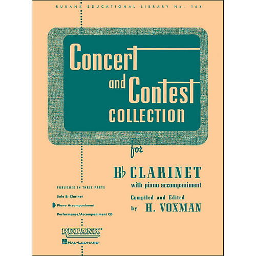 Hal Leonard Concert And Contest Collection for B Flat Clarinet Piano Accompaniment