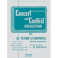 Hal Leonard Concert And Contest Collection for B Flat Tenor Saxophone Piano Accompaniment Only