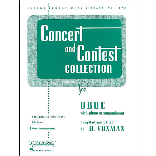 Hal Leonard Concert And Contest Collection for Oboe Piano Accompaniment Only