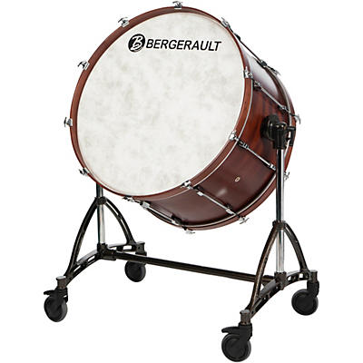 "Bergerault Concert Bass Drum, 36x22"" With Tilting Stand"