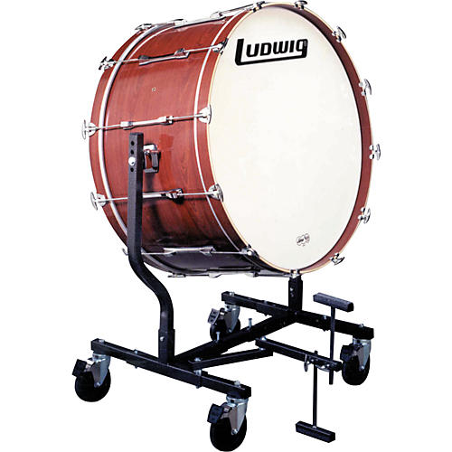 Ludwig Concert Bass Drum w/ LE787 Stand Mahogany Stain 18x36