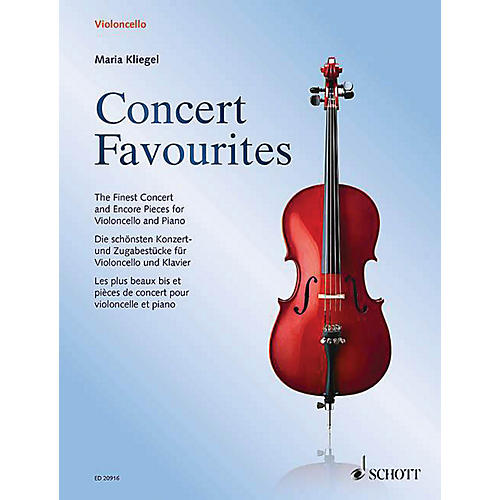 Schott Concert Favorites (Cello and Piano) String Series Softcover