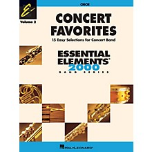 Hal Leonard Concert Favorites Vol. 2 - Oboe Concert Band Level 1-1.5 Arranged by Michael Sweeney