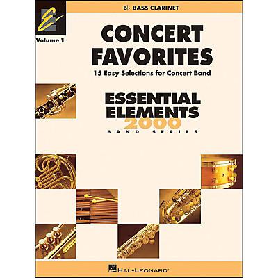 Hal Leonard Concert Favorites Vol1 Bb Bass Clarinet
