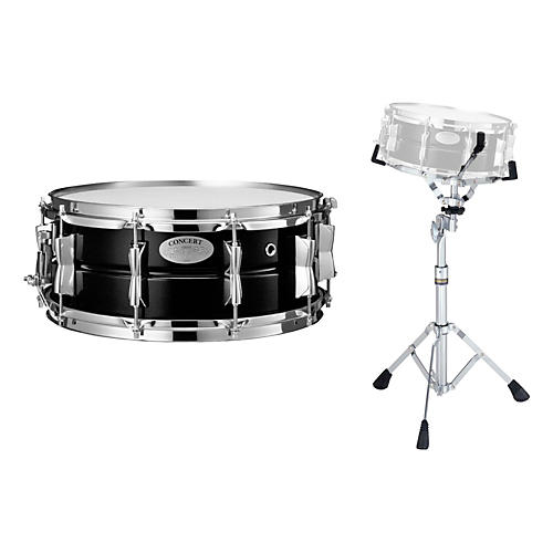 Yamaha Concert Series Steel Snare Drum with Stand, 14 x 5.5