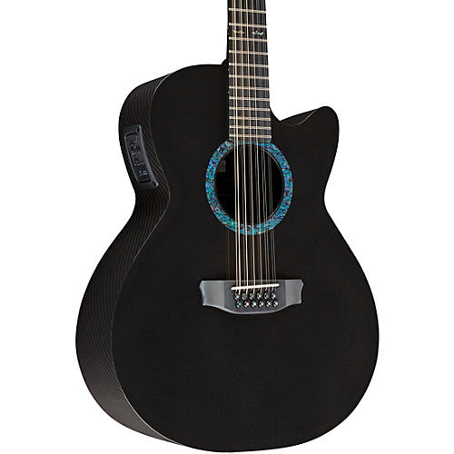 Rainsong Concert Series WS 12-string Acoustic-Electric Guitar Graphite
