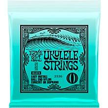 Ernie Ball Concert/Soprano Nylon Ball-End Ukulele Strings - Black