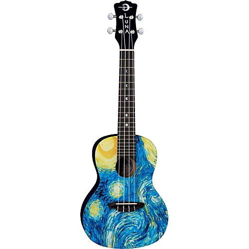Luna Guitars Concert Ukulele Starry Night
