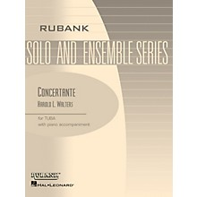 Rubank Publications Concertante (Tuba Solo in C (B.C.) with Piano - Grade 4) Rubank Solo/Ensemble Sheet Series Softcover
