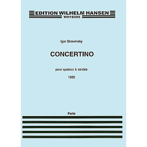 Wilhelm Hansen Concertino (1920) (for String Quartet) Music Sales America Series Composed by Igor Stravinsky