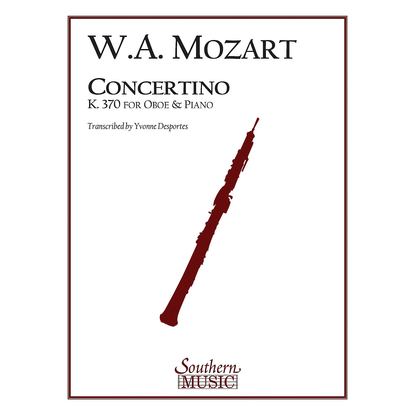 Southern Concertino, K370 Southern Music Series by Wolfgang Amadeus Mozart Arranged by Yvonne Desportes