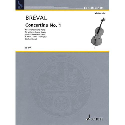 Schott Concertino No. 1 in F Major (Cello and Piano) String Series Softcover