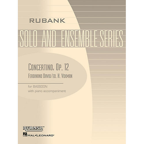 Rubank Publications Concertino, Op 12 (Bassoon Solo with Piano - Grade 4) Rubank Solo/Ensemble Sheet Series