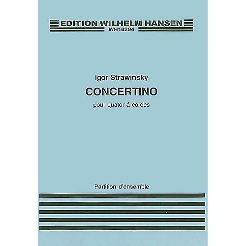Wilhelm Hansen Concertino for String Quartet Music Sales America Series Composed by Igor Stravinsky