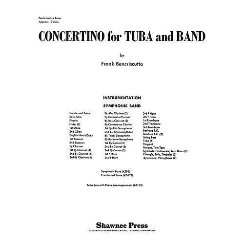Shawnee Press Concertino for Tuba and Band Concert Band Level 3 Composed by Bencriscutto