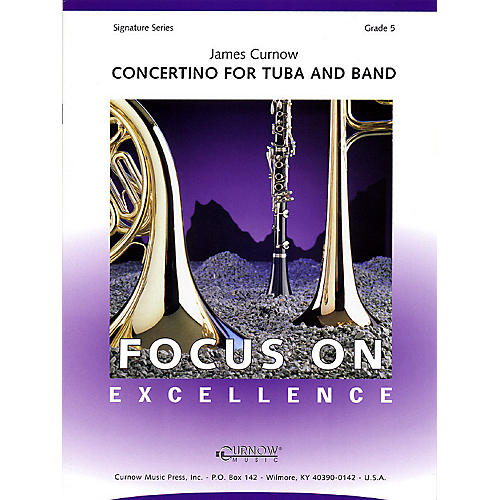 Curnow Music Concertino for Tuba and Band (Grade 5 - Score Only) Concert Band Level 5 Composed by James Curnow
