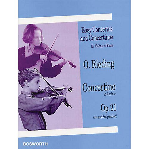 Bosworth Concertino in A Minor for Violin and Piano Op. 21 Music Sales America Series Softcover