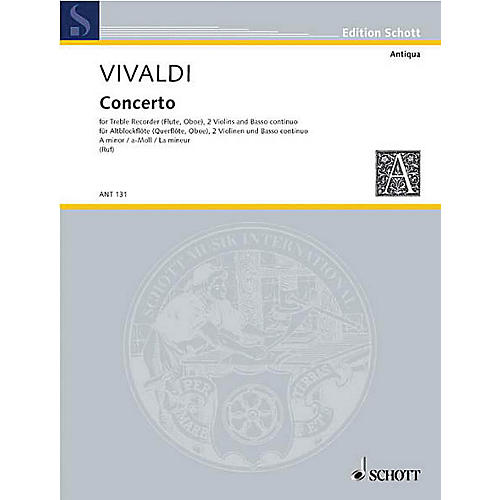 Schott Concerto A Minor (Score and Parts) Schott Series