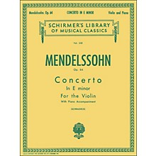 G. Schirmer Concerto E Minor Op 64 Violin Piano By Mendelssohn