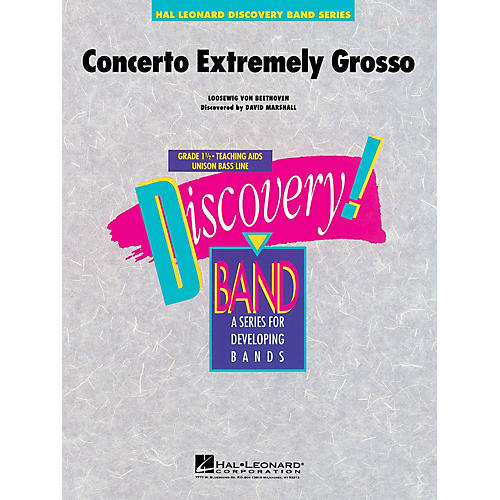 Hal Leonard Concerto Extremely Grosso Concert Band Level 1.5 Composed by David Marshall