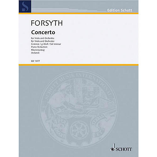 Schott Concerto G Minor (Viola and Orchestra, Piano Reduction) Schott Series