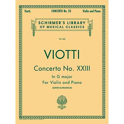 G. Schirmer Concerto No 23 G Major Violin Piano By Viotti