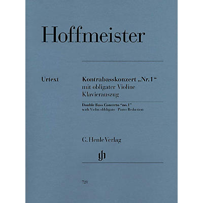 G. Henle Verlag Concerto No. 1 for Double Bass and Orchestra with Violin Obbligato Henle Music Folios Series Softcover