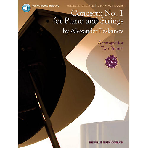 Willis Music Concerto No. 1 for Piano and Strings Willis Series Book with CD by Alexander Peskanov (Level Mid-Inter)