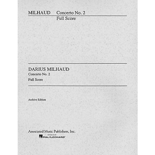 Associated Concerto No. 2 (Cello and Orchestra Full Score) Study Score Series Composed by Darius Milhaud