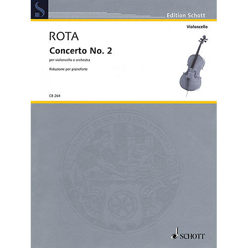 Schott Concerto No. 2 (Cello with Piano Reduction) String Series Softcover