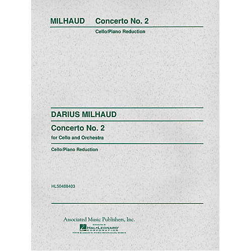 Associated Concerto No. 2 (Score and Parts) String Solo Series Composed by Darius Milhaud