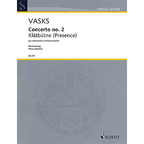 Schott Concerto No. 2 String Series Softcover Composed by Peteris Vasks Arranged by Sol Gabetta
