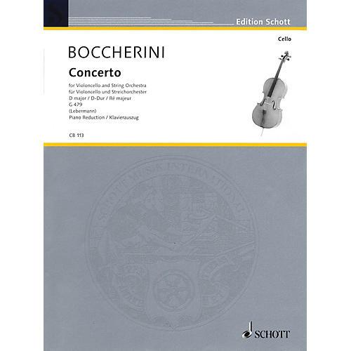 Schott Concerto No. 2 in D Major, G. 479 (Cello and Piano) Schott Series