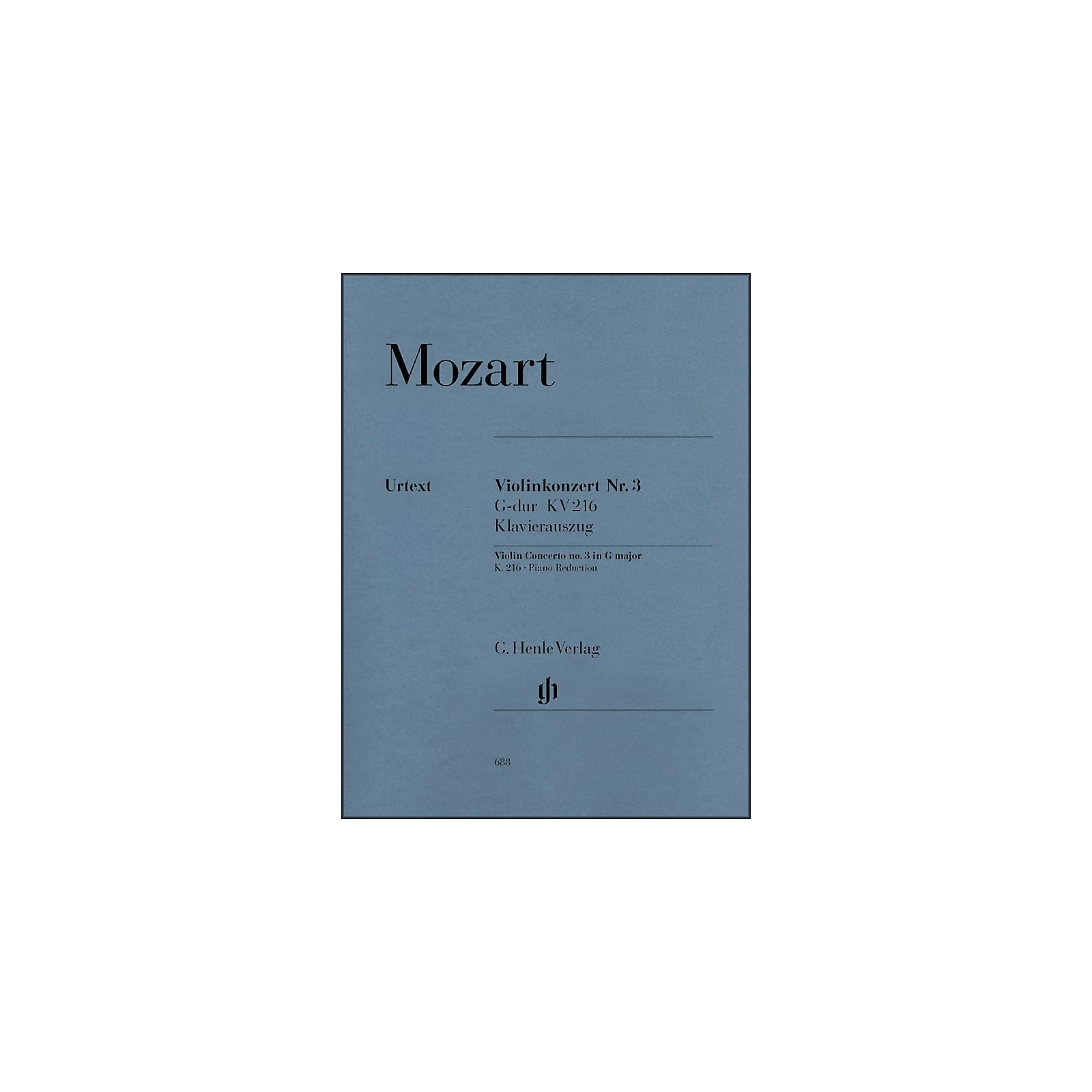 G. Henle Verlag Concerto No. 3 in G Major K216 By Mozart
