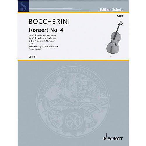 Schott Concerto No. 4 C Major (Cello) Schott Series