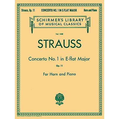 G. Schirmer Concerto No1 E Flat Major Horn Piano Op11