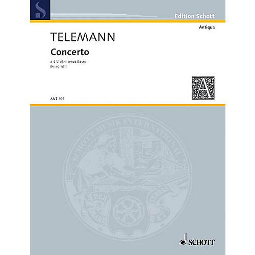 Schott Concerto a 4 Violini senza Basso (4 violins, basso continuo) Schott Series