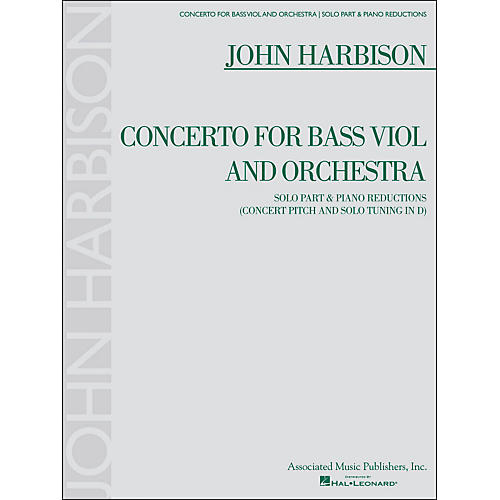 G. Schirmer Concerto for Bass Viol And Orchestra Double Bass And Piano Reductions By Harbison