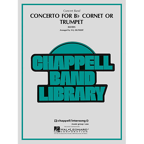 Hal Leonard Concerto for Bb Cornet or Trumpet Concert Band Level 4 Arranged by W.J. Duthoit