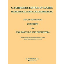 G. Schirmer Concerto for Cello & Orchestra (Full Score) String Solo Series Composed by Arnold Schoenberg
