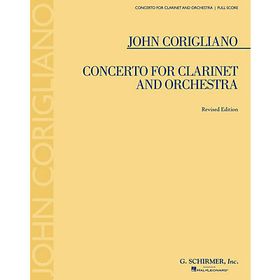 G. Schirmer Concerto for Clarinet and Orchestra (Revised Edition) Study Score Series Softcover by John Corigliano