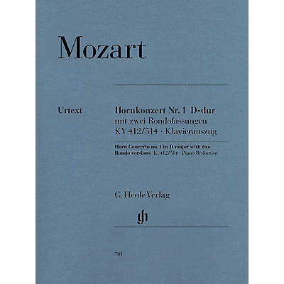 G. Henle Verlag Concerto for Horn and Orchestra No. 1 in D Major, K.412/514 Henle Music Folios Series Softcover