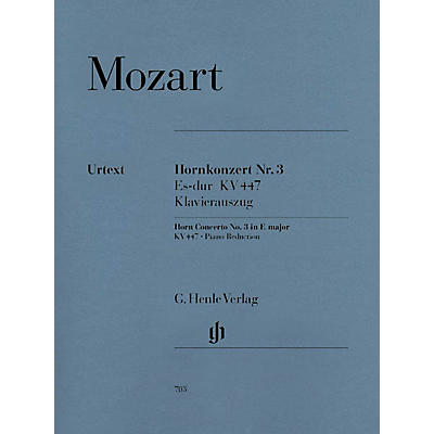 G. Henle Verlag Concerto for Horn and Orchestra No. 3 in E-Flat Major, K.447 Henle Music Folios Series Softcover
